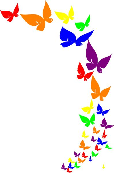 396x599 Rainbow Butterfly Clip Art Kids Stuff