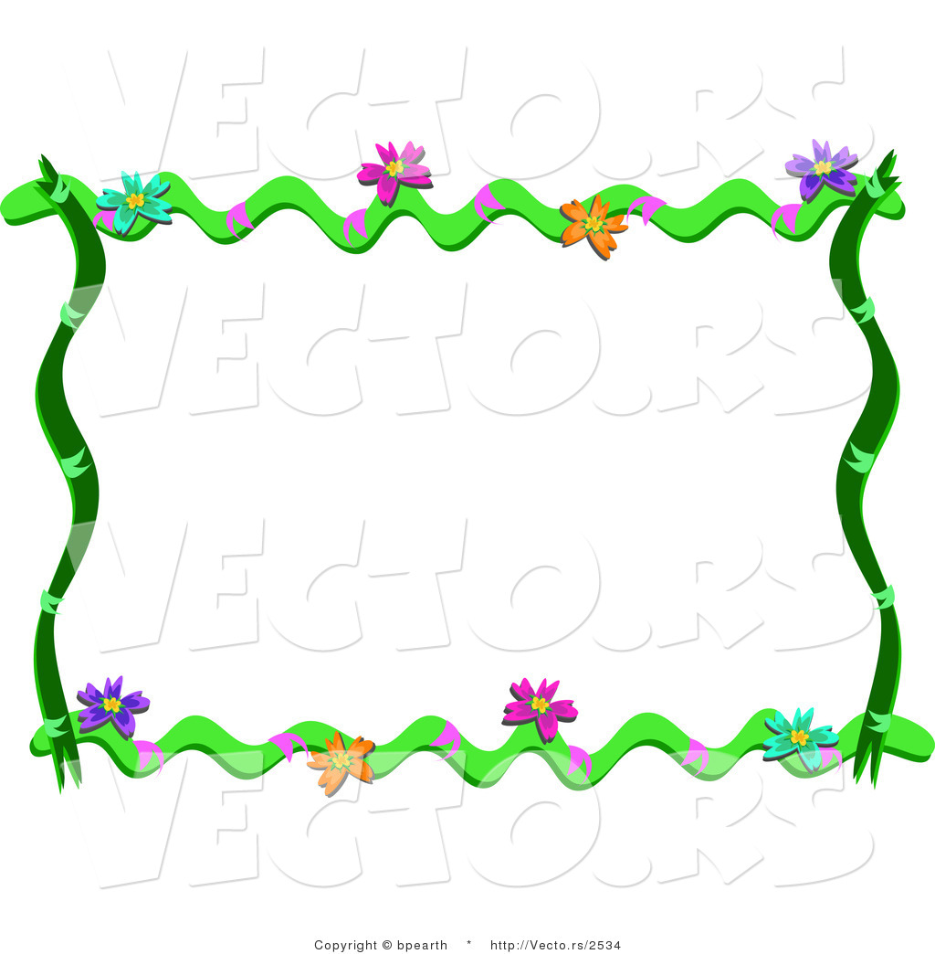 1024x1044 Cartoon Vector Of Floral Vines Frame Border By Bpearth