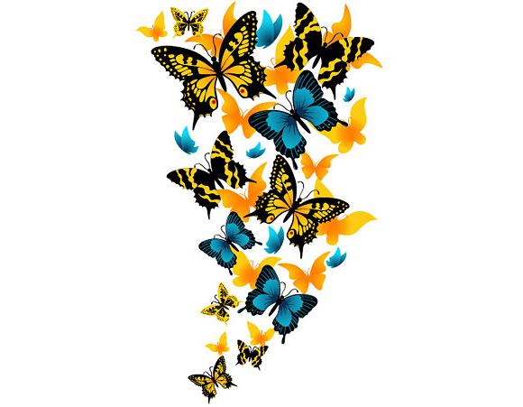 580x451 Butterflies Flowers Clip Art Clipart Panda