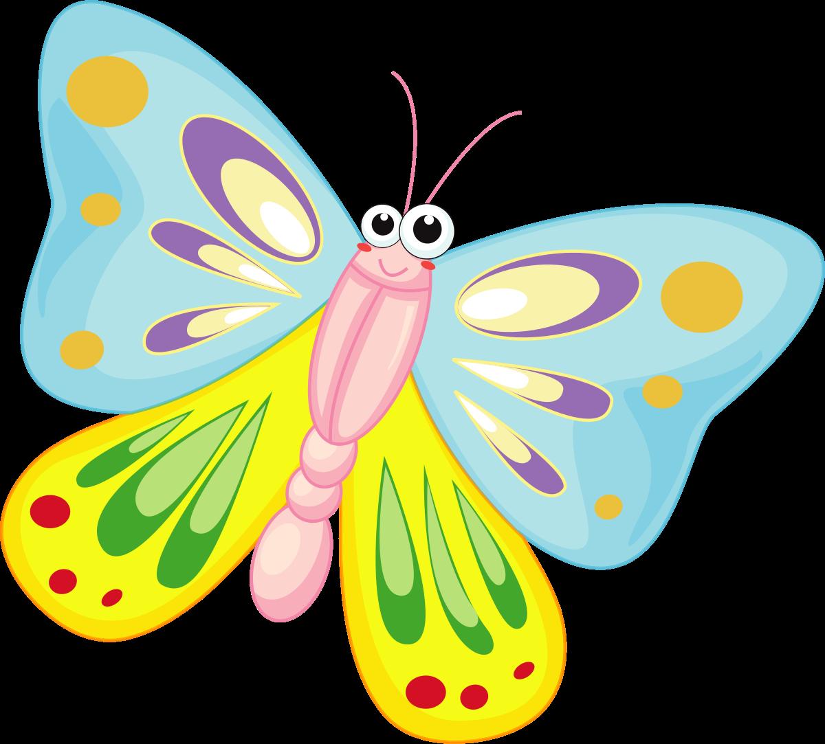 1200x1083 Butterflies Clip Art Clipartfest 3