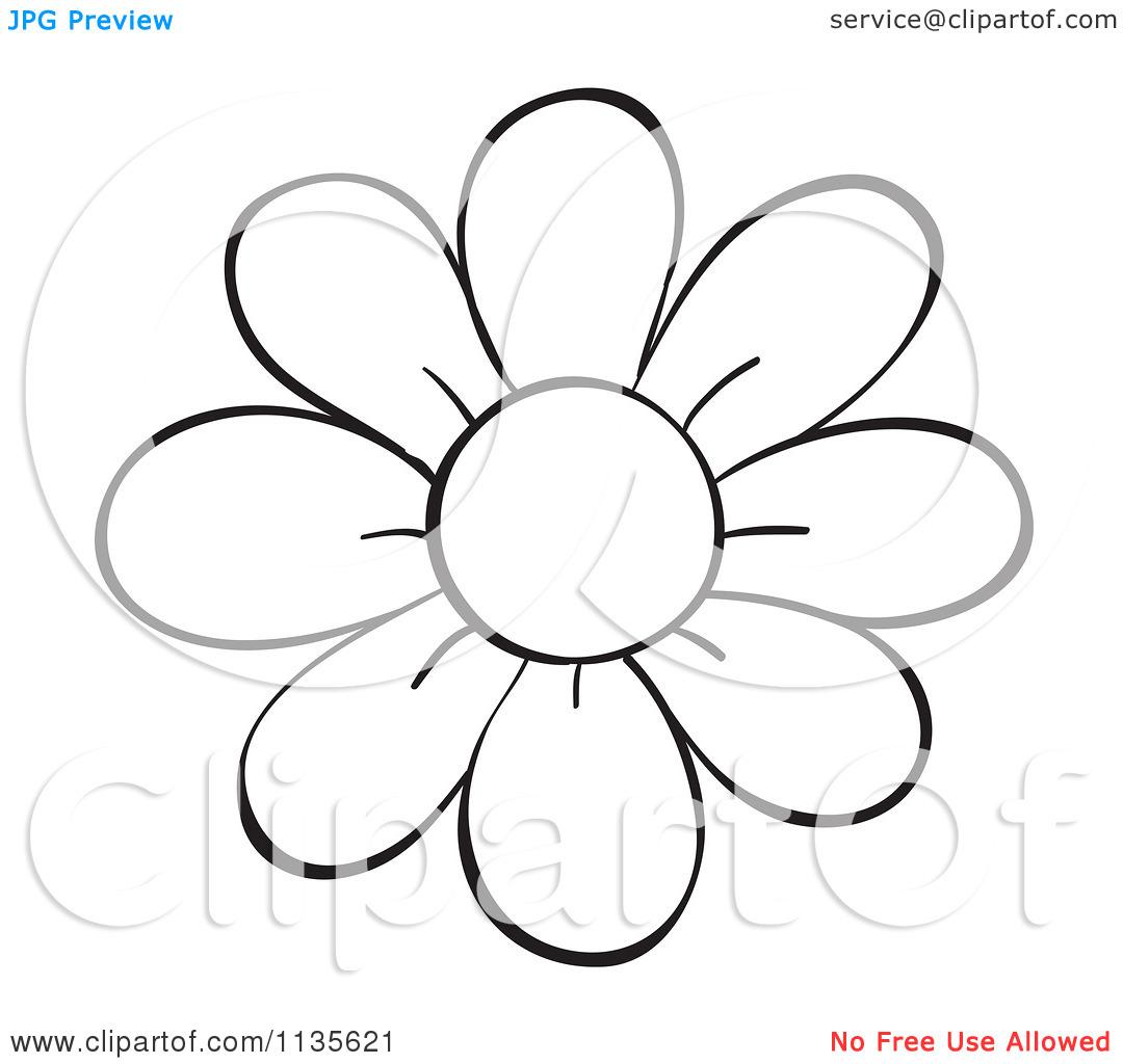 1080x1024 Flower Stem Clipart Black And White