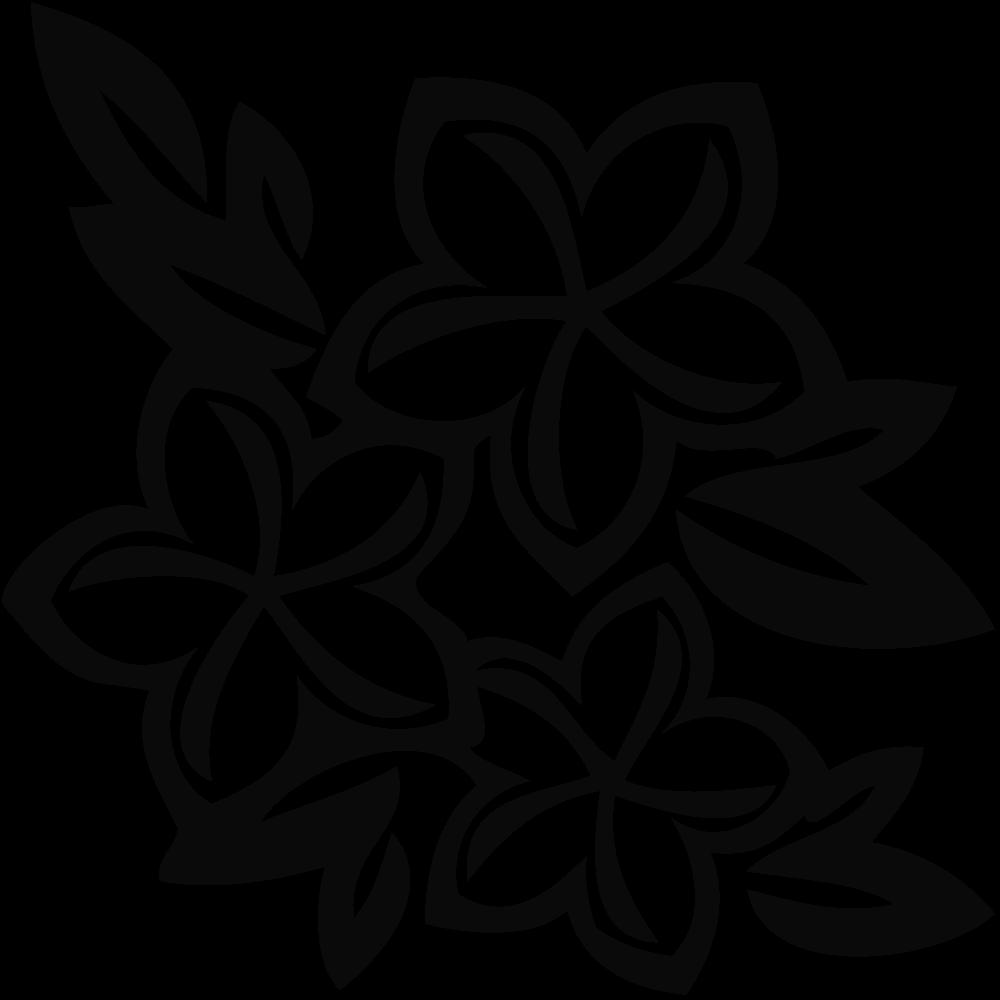 1000x1000 White Flower Clipart Hawaiian