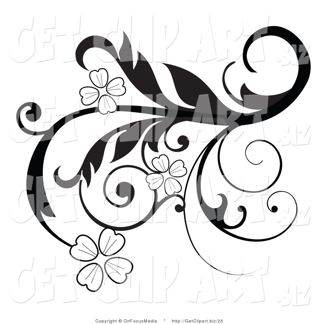 1024x1044 Black And White Flower Clip Art Borders