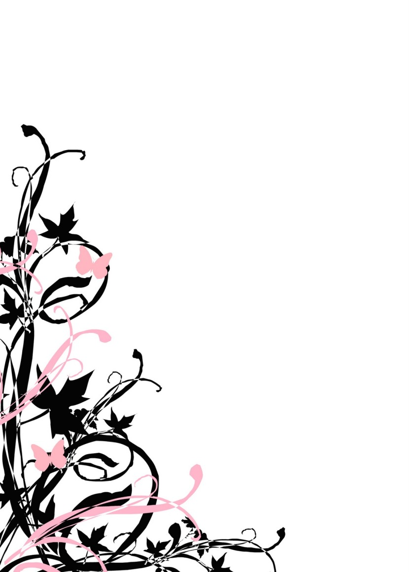 Flowers Black And White Borders Clipart | Free download best Flowers ...