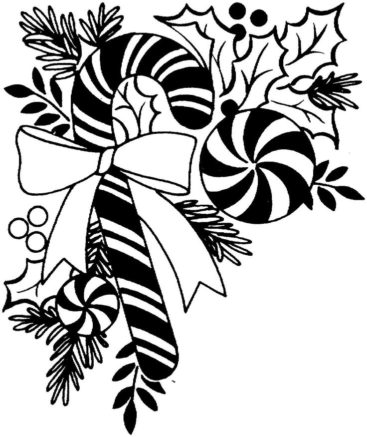 736x875 Christmas Decorations Clipart Borders Black And White