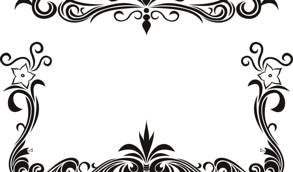 1024x600 Black Border Designs Clipart