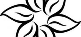 272x125 Clip Art Flower Black And White Clipart Panda