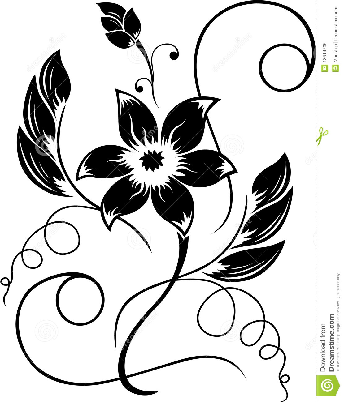 1111x1300 Black Rose White Flower Clipart