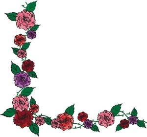 300x280 Flower Borders Clip Art
