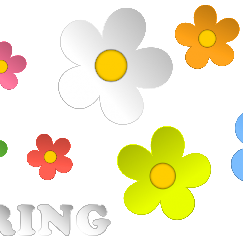 1500x1500 Spring Flower Garden Clip Art