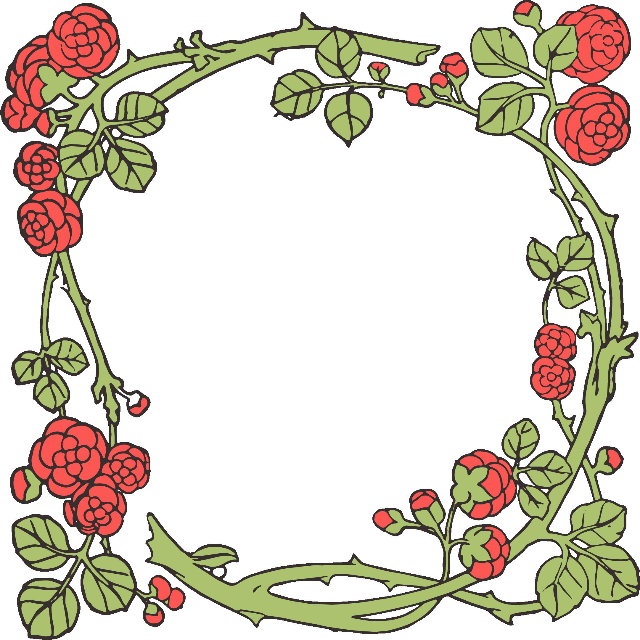 2162x2162 Vintage Flower Clipart Borders Vintage Color