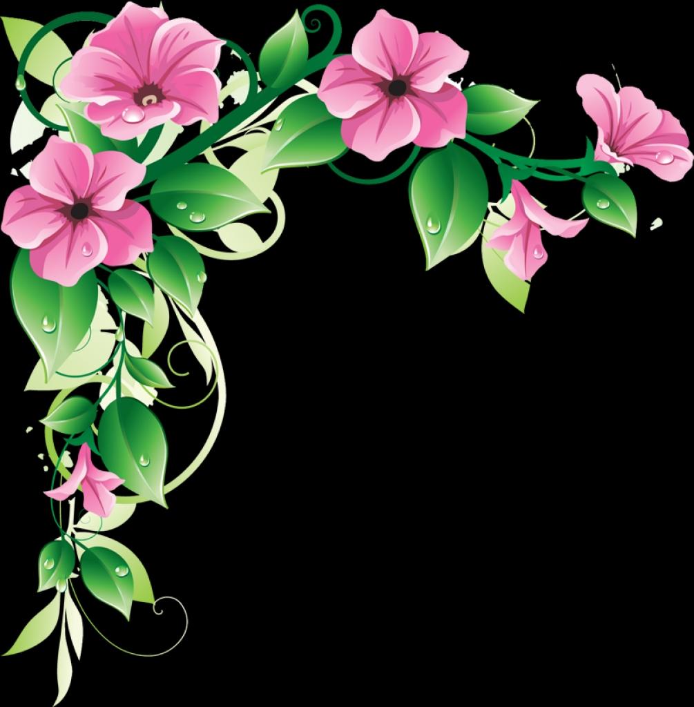 1005x1024 Pink Flower Border Clip Art Clipart Panda Free Clipart Images