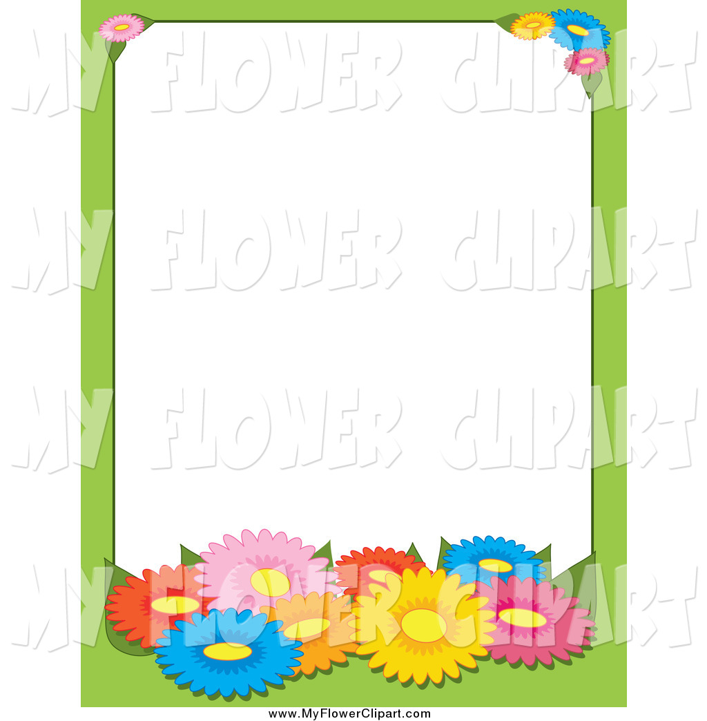 1024x1044 Clip Art Of A Border Of Colorful Daisy Flowers By Maria Bell