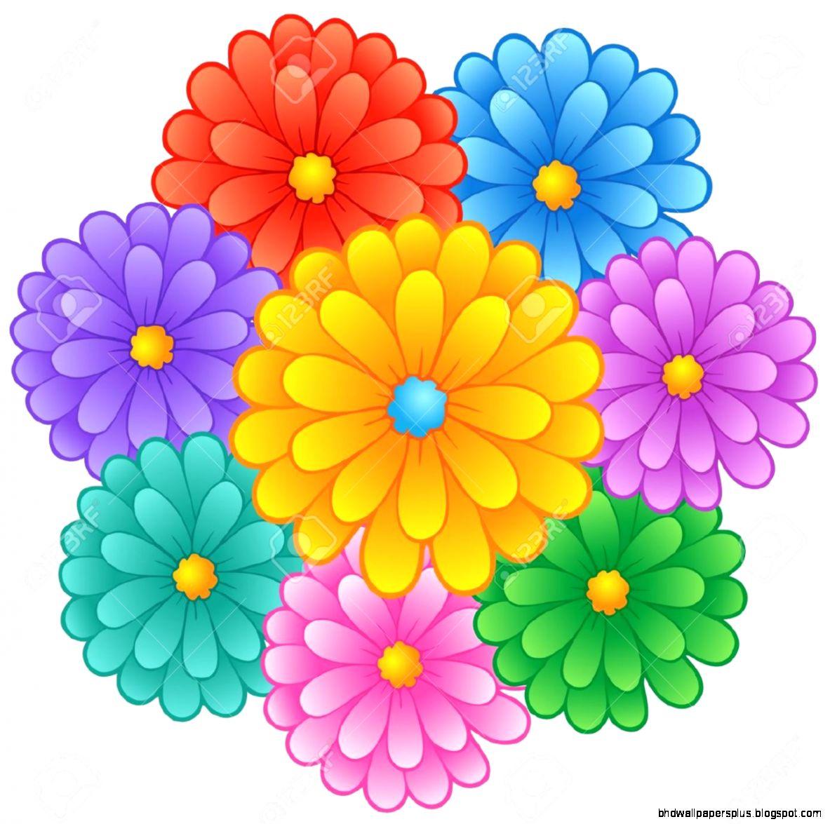 1183x1175 Cartoon Flowers Hd Wallpapers Plus