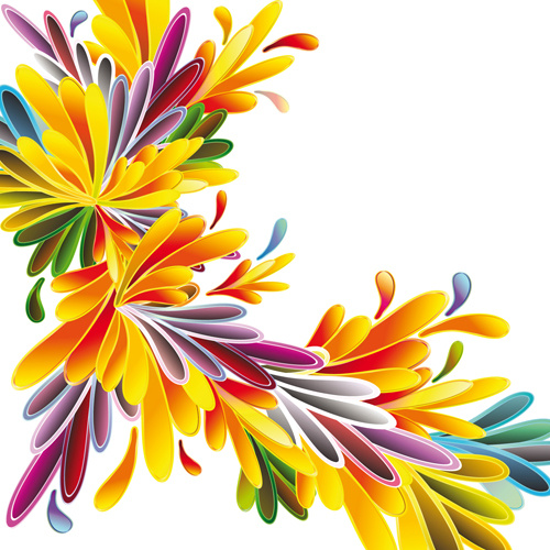 500x500 Different Cartoon Flower Mix Design Vector Free Vector