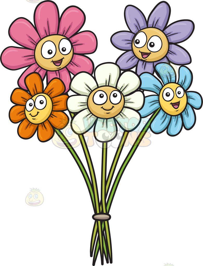 782x1024 Gallery Cartoon Flowers With Faces,