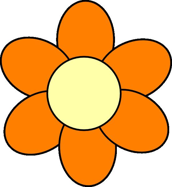 552x600 Orange Flower Clip Art
