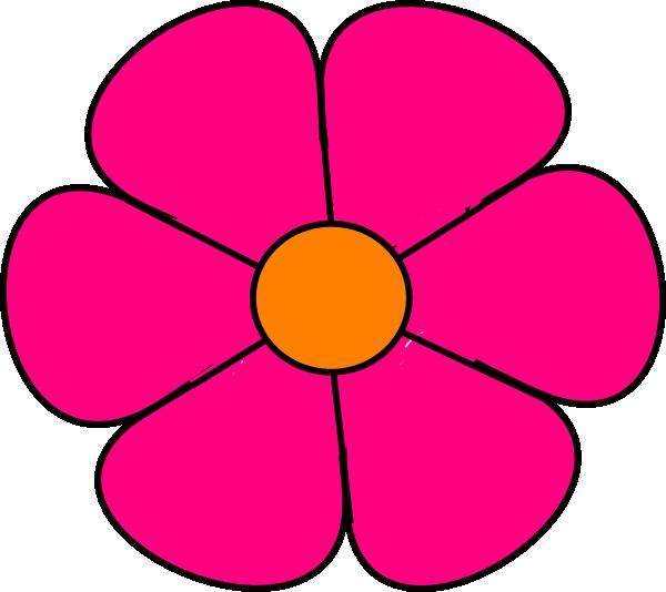 600x534 Pink Flower 2 Clip Art