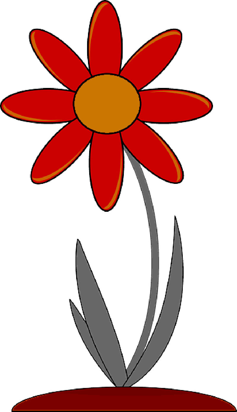 800x1387 Red, Outline, Drawing, Plants, Flower, Flowers, Cartoon