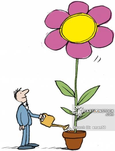 400x527 Watering Flowers Cartoons And Comics