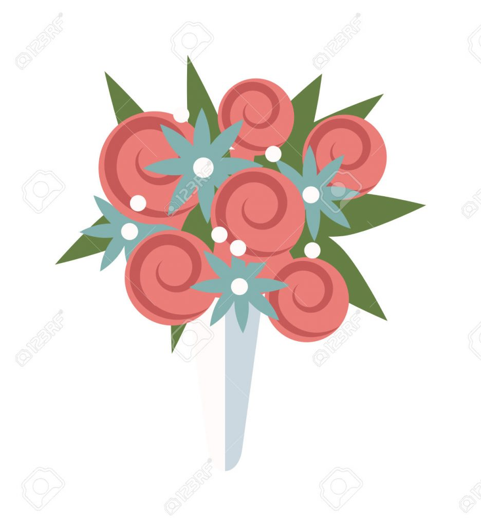 936x1024 Wedding Flowers Cartoon