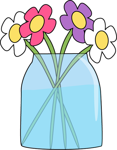 389x500 Flowers In A Jar Clip Art