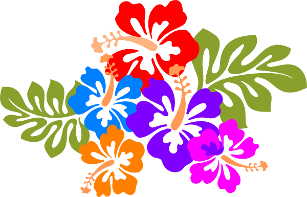 600x385 Hawaiian Flower Clip Art Bright Hawaiian Clipart Wikiclipart