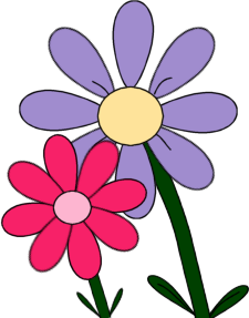 225x287 Pink And Purple Flowers Clip Art