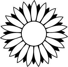 225x224 Flower Outline Clip Art