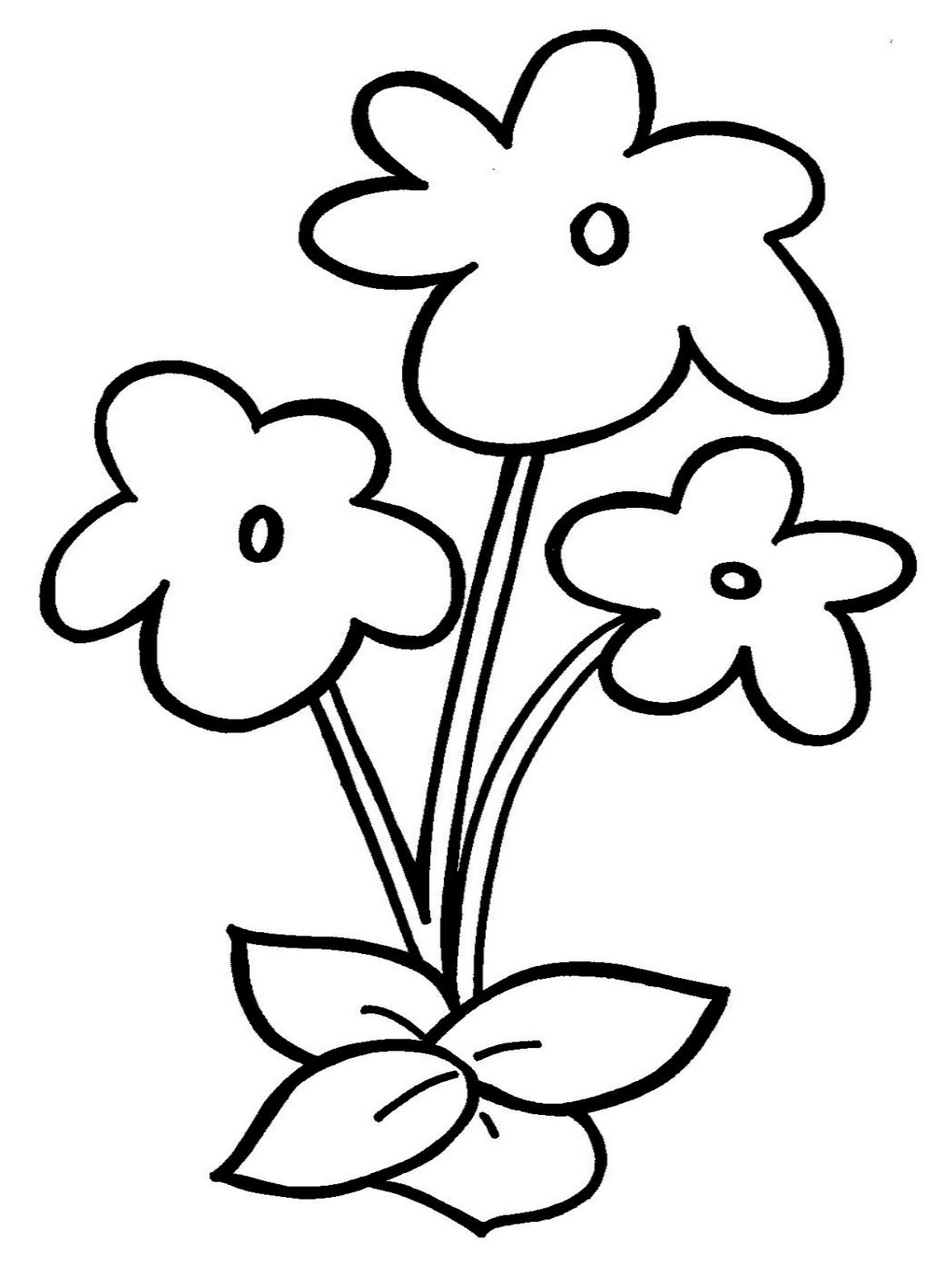 1172x1600 Simple Drawing For Kids Flowers Easy Drawing Of Bunch Of Flowers
