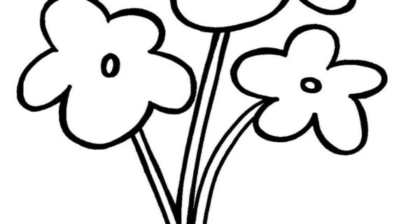 Flowers Drawing For Kids | Free download on ClipArtMag