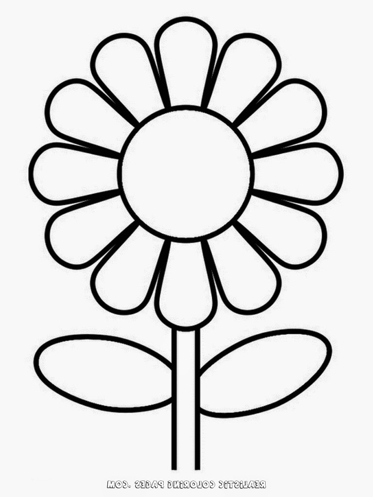 768x1024 Simple Flower Drawing For Kids Flower Coloring Pages Simple Flower