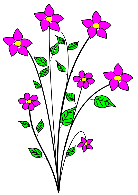 566x800 Free Clipart Of Flowers