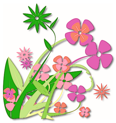 384x405 Free Clipart Spring Flowers