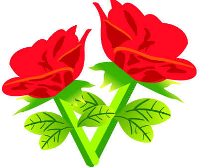 400x336 Rose Flower Free Vector Download (10,415 Free Vector)