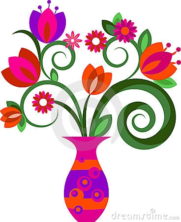 368x450 In The Vase Clipart