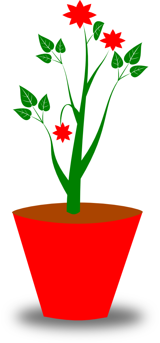 555x1188 Clip Art Gsagri 4 Flower Pot
