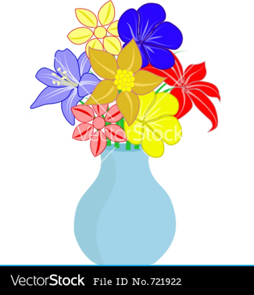 Flowers In A Vase Clipart | Free download best Flowers In A Vase ...