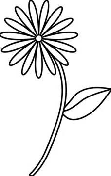 228x363 Four Flowers Flora 80 Black White Line Art Tattoo