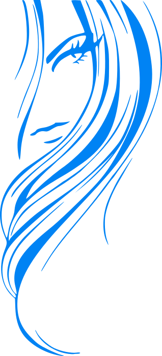 Flowing Hair Clipart