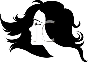 350x246 Pretty Woman With Flowing Hair