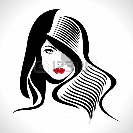 450x450 66 Best Silhouettes Hair Silhouettes Images Hair