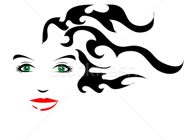 600x450 Long Hair Stock Vectors, Illustrations And Cliparts Stockfresh
