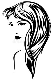 Flowing Hair Silhouette
