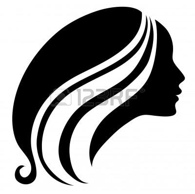 400x399 Flowing Hair Silhouette Clipart Panda