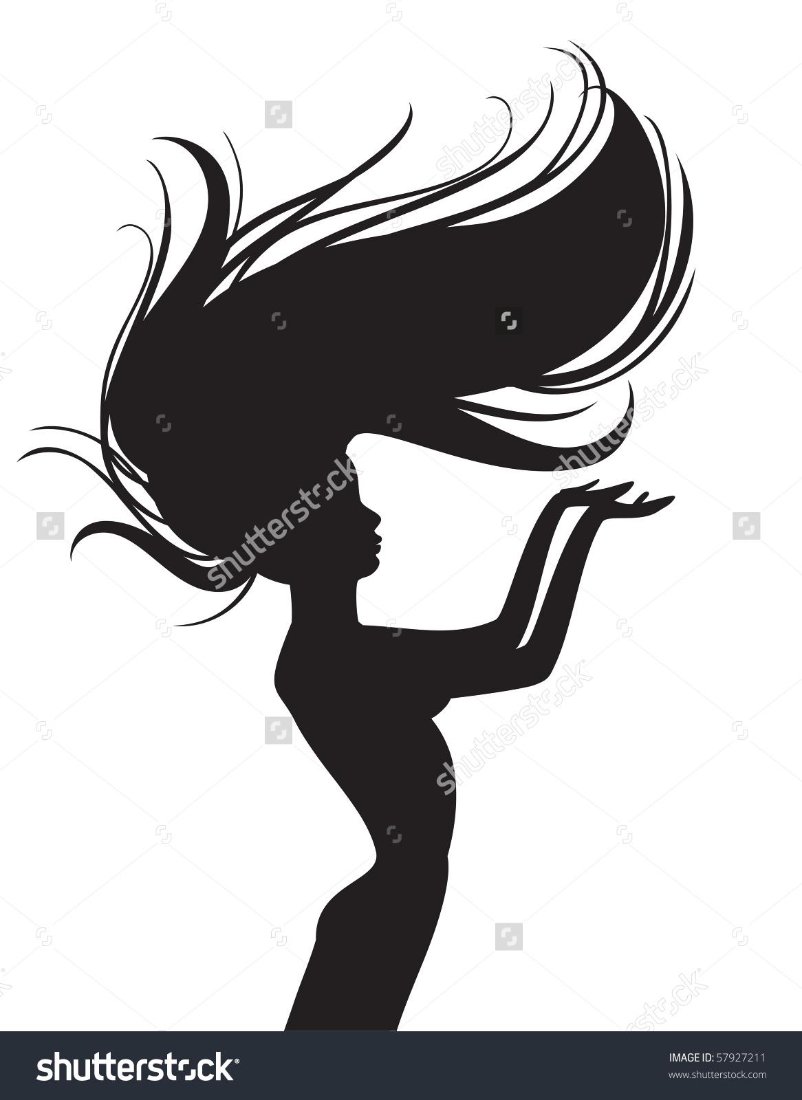 1166x1600 Flowing Hair Silhouette
