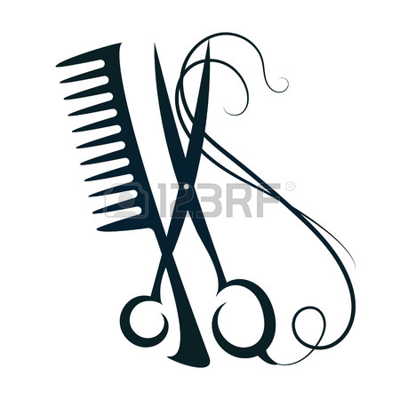 450x450 An Illustration Of A Pair Of Hairdressers Scissors Cutting Hair