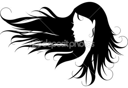 449x308 Flowing Hair Vector Clipart Panda