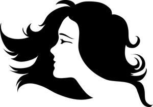 300x211 Abstract Clipart Flowing Hair