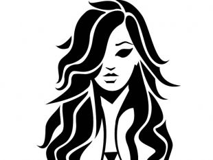 310x233 Girls Hair Sketch Free Vector Free Vectors Ui Download